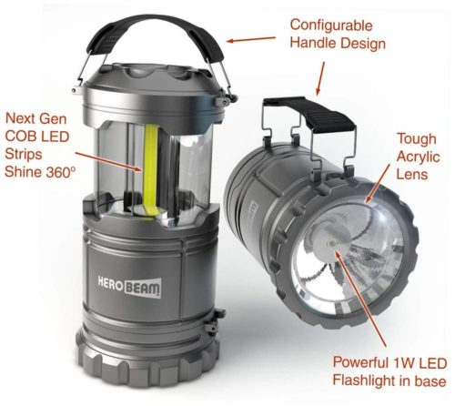 HeroBeam LED Lantern V2.0 with Flashlight