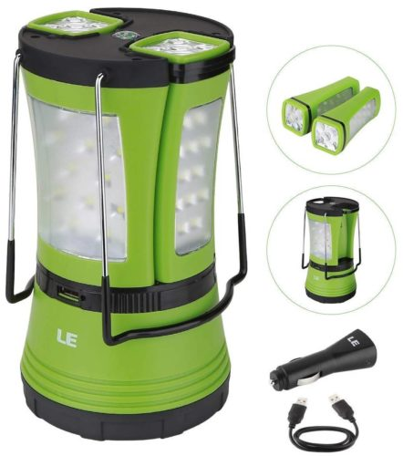 Lightning Ever Rechargeable LED Camping Lantern, 600lm, Detachable Flashlight